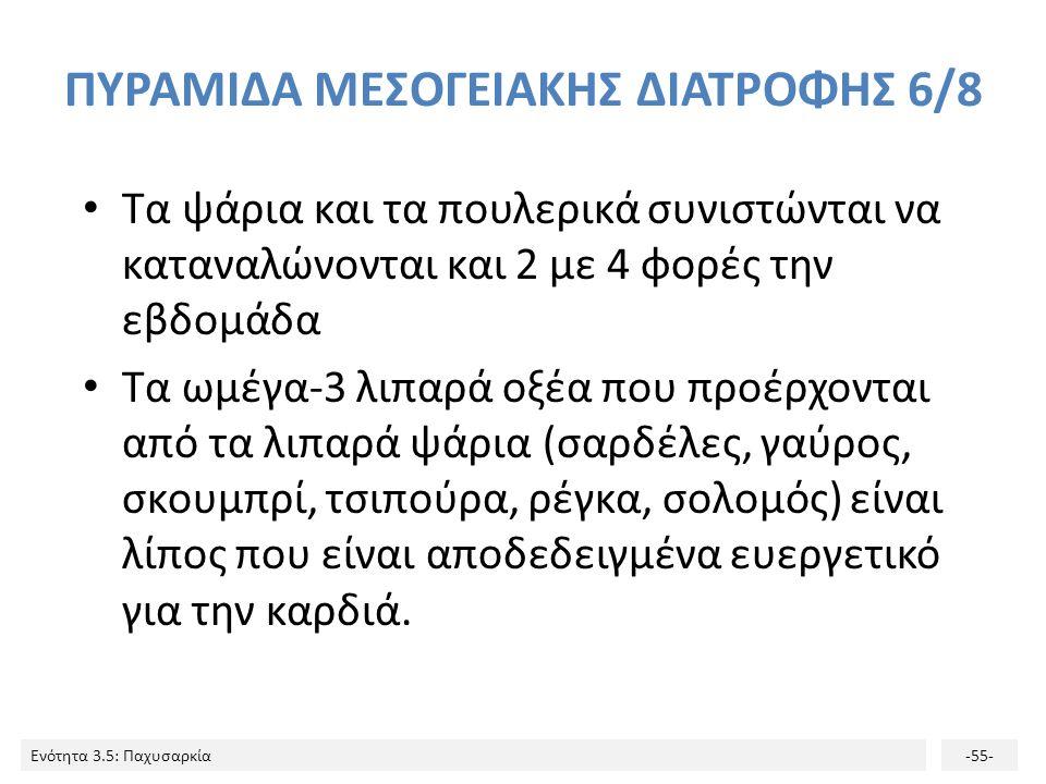 ΠΥΡΑΜΙΔΑ ΜΕΣΟΓΕΙΑΚΗΣ ΔΙΑΤΡΟΦΗΣ 6/8