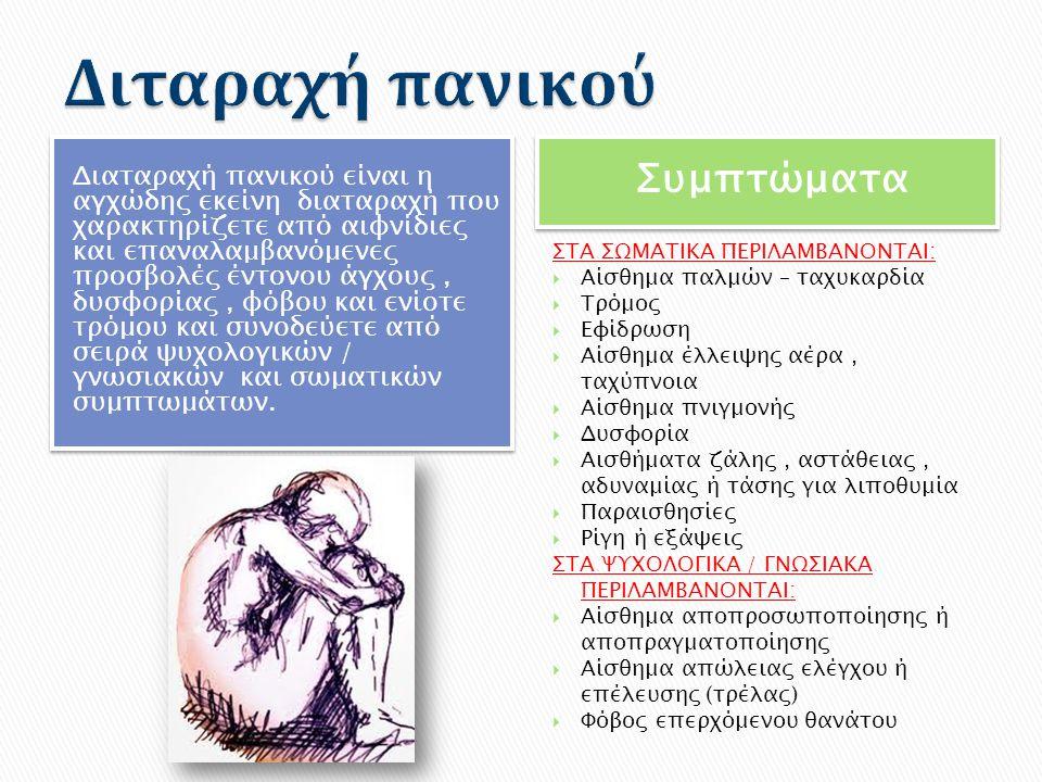 Διταραχή πανικού Συμπτώματα