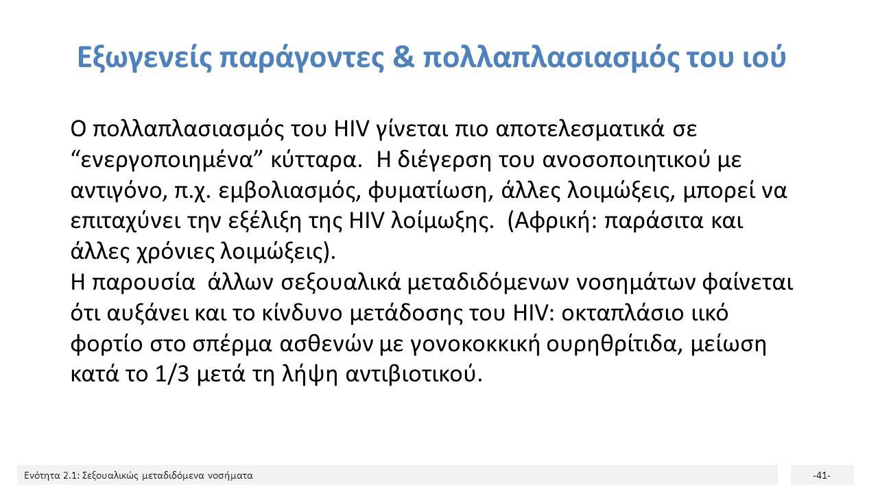Εξωγενείς παράγοντες & πολλαπλασιασμός του ιού