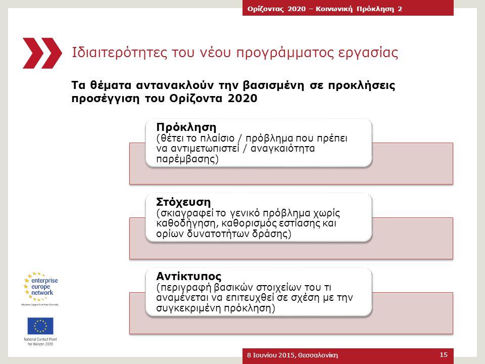 Ιδιαιτερότητες του νέου προγράμματος εργασίας
