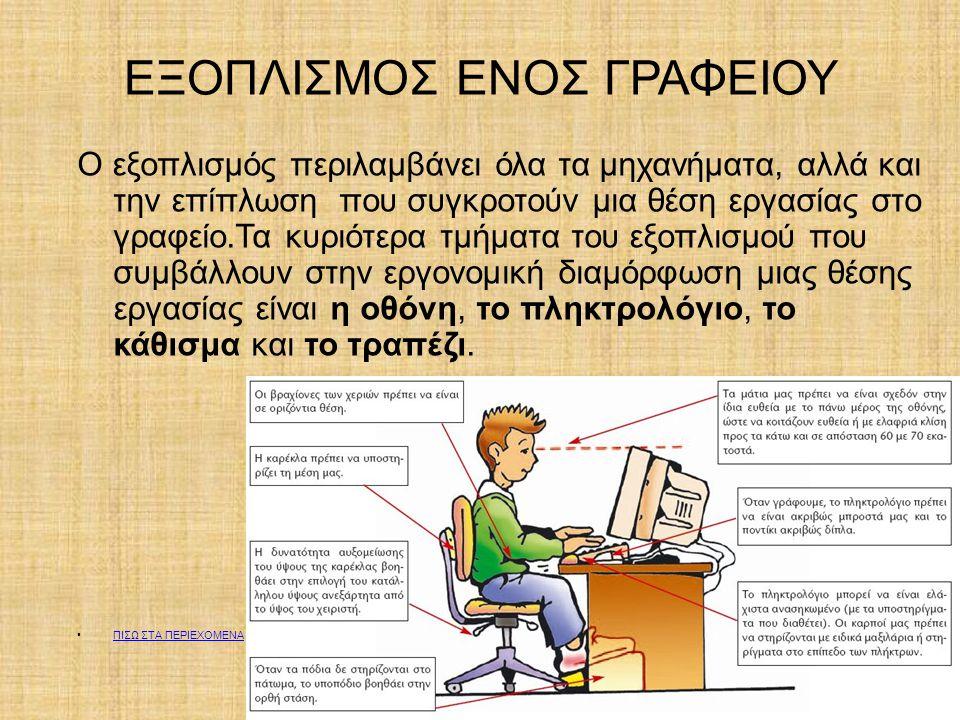 ΕΞΟΠΛΙΣΜΟΣ ΕΝΟΣ ΓΡΑΦΕΙΟΥ