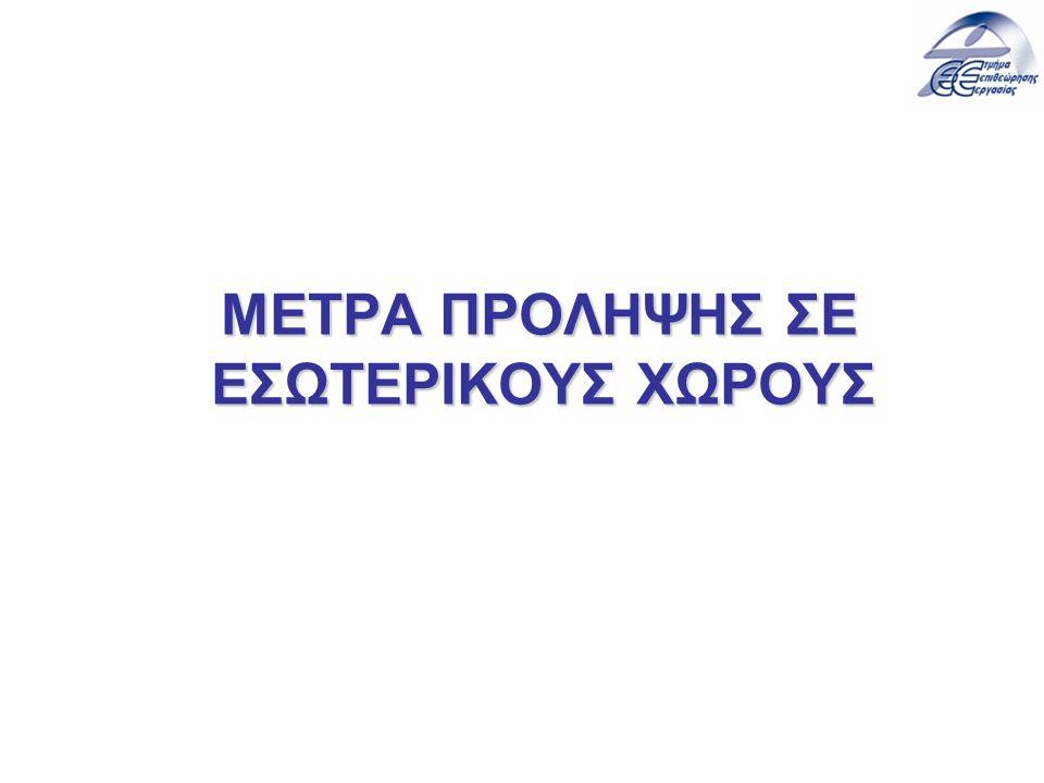 ΜΕΤΡΑ ΠΡΟΛΗΨΗΣ ΣΕ ΕΣΩΤΕΡΙΚΟΥΣ ΧΩΡΟΥΣ
