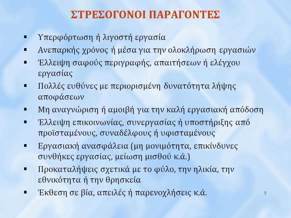 ΣΤΡΕΣΟΓΟΝΟΙ ΠΑΡΑΓΟΝΤΕΣ