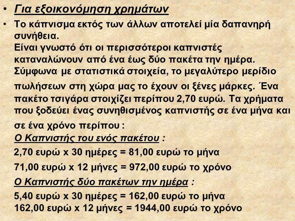 Για εξοικονόμηση χρημάτων
