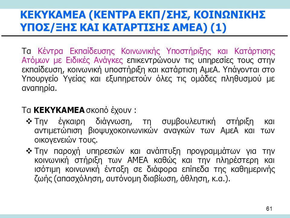 ΚΕΚΥΚΑΜΕΑ (ΚΕΝΤΡΑ ΕΚΠ/ΣΗΣ, ΚΟΙΝΩΝΙΚΗΣ ΥΠΟΣ/ΞΗΣ ΚΑΙ ΚΑΤΑΡΤΙΣΗΣ ΑΜΕΑ) (1)