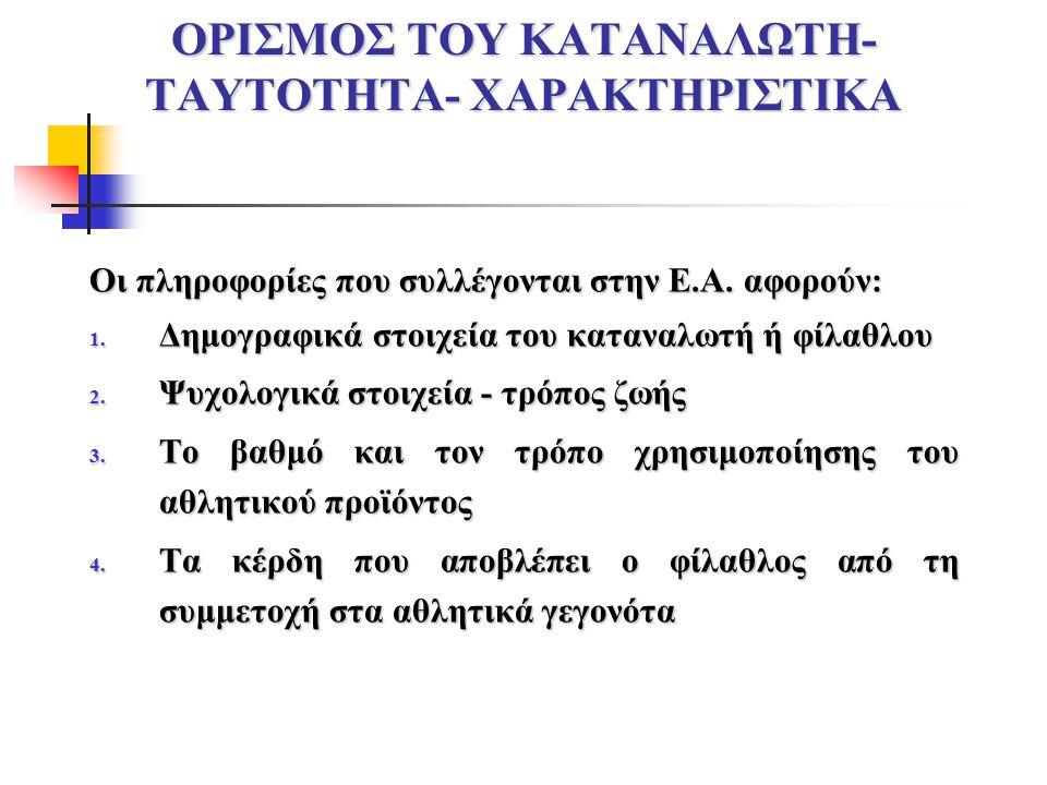 ΟΡΙΣΜΟΣ ΤΟΥ ΚΑΤΑΝΑΛΩΤΗ-ΤΑΥΤΟΤΗΤΑ- ΧΑΡΑΚΤΗΡΙΣΤΙΚΑ