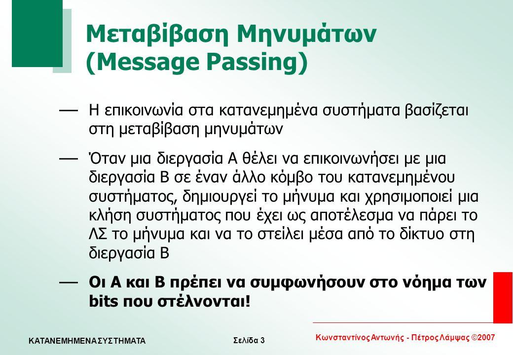 Μεταβίβαση Μηνυμάτων (Message Passing)
