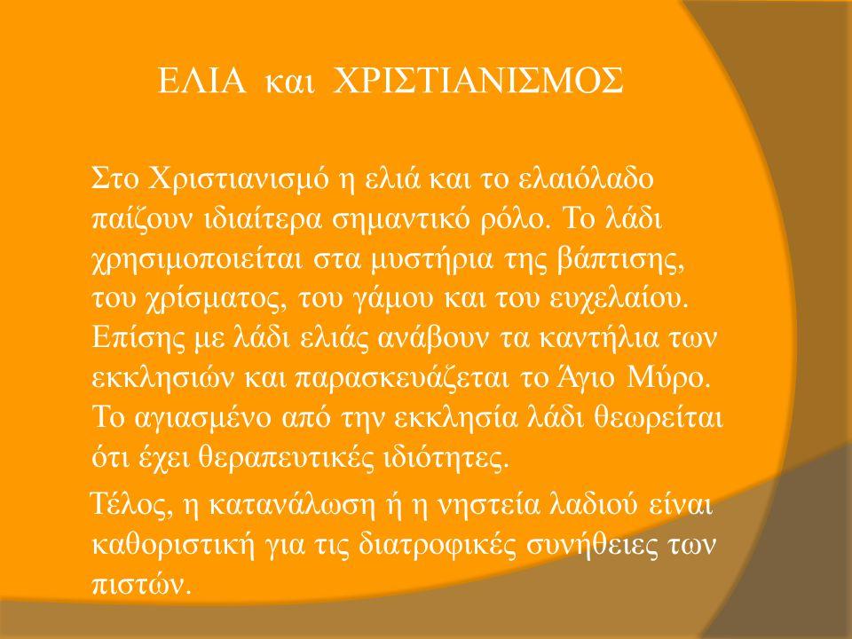 ΕΛΙΑ και ΧΡΙΣΤΙΑΝΙΣΜΟΣ