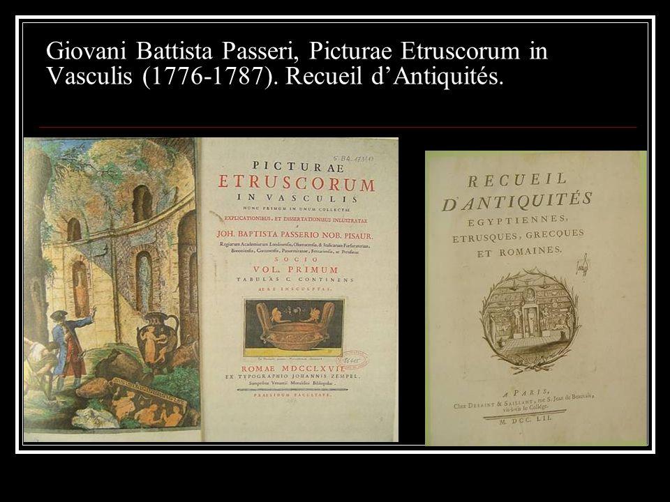 Giovani Battista Passeri, Picturae Etruscorum in Vasculis (1776-1787)