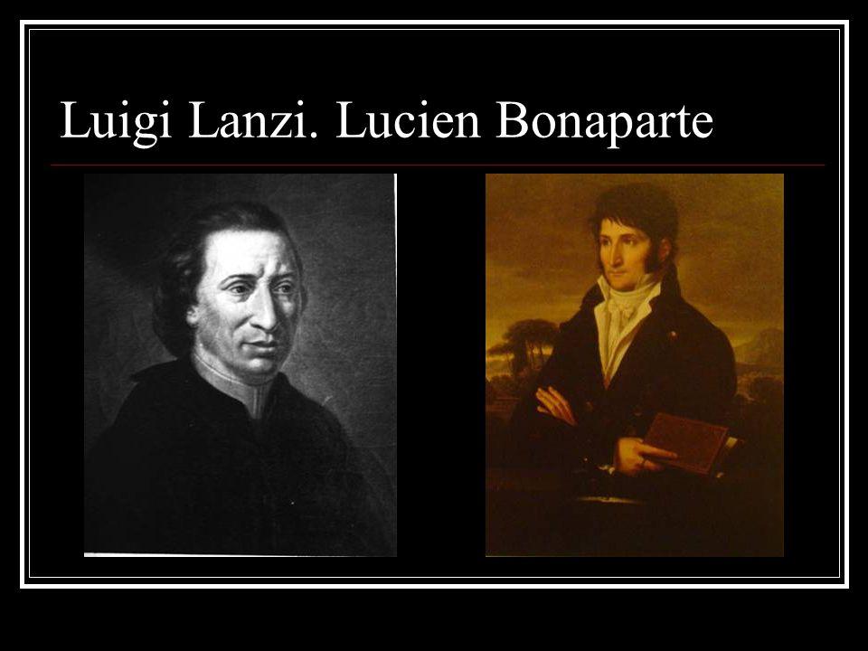 Luigi Lanzi. Lucien Bonaparte