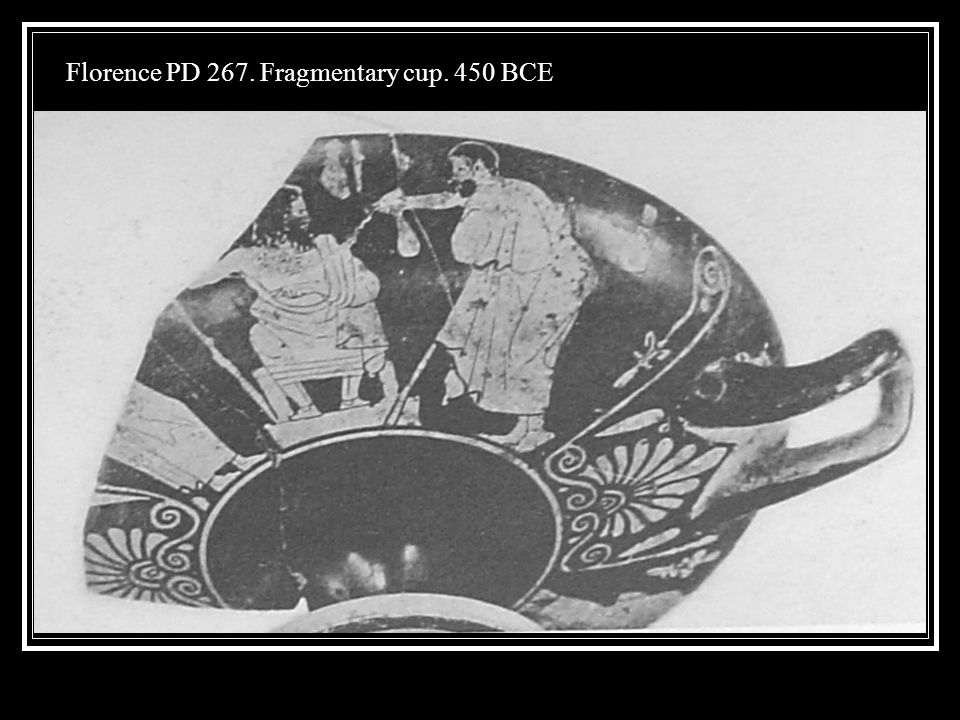 Florence PD 267. Fragmentary cup. 450 BCE