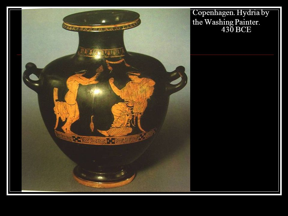 Copenhagen. Hydria by the Washing Painter. 430 BCE