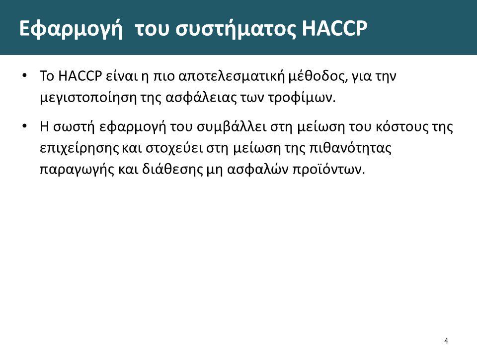 Πλεονεκτήματα από την εφαρμογή του συστήματος HACCP 1/2