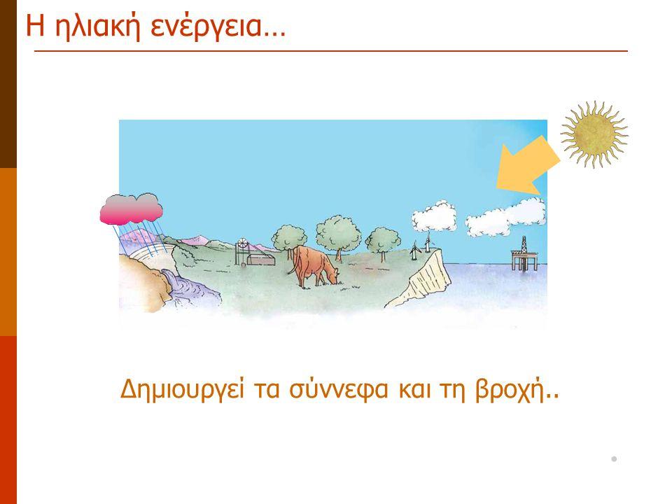 Η ηλιακή ενέργεια… Δημιουργεί τα σύννεφα και τη βροχή.. •