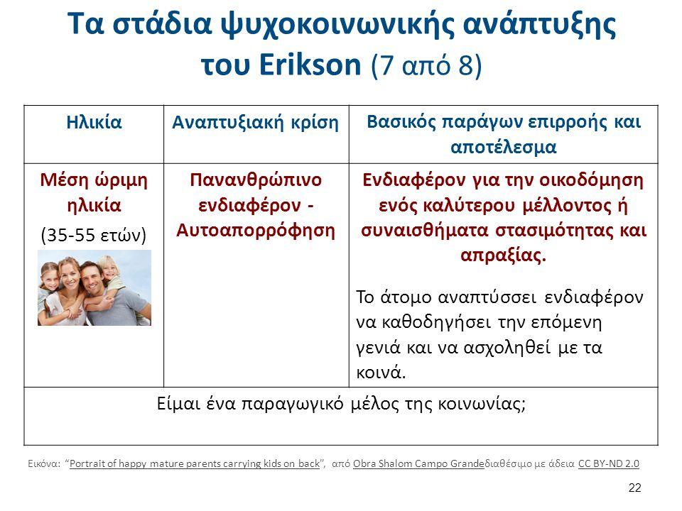 Τα στάδια ψυχοκοινωνικής ανάπτυξης του Erikson (8 από 8)