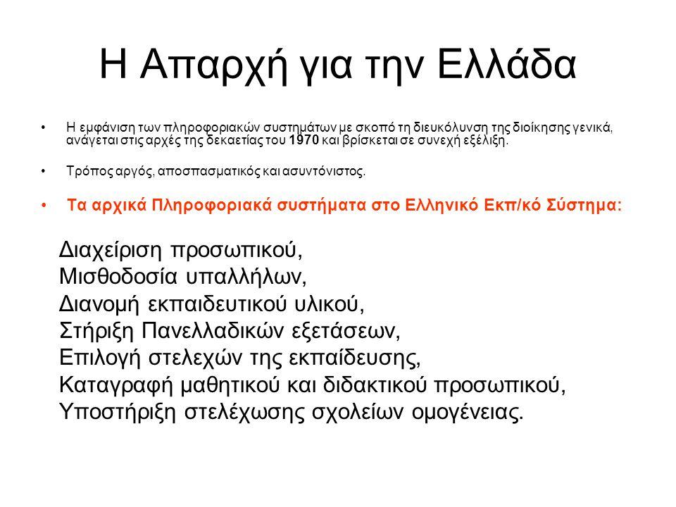 Η Απαρχή για την Ελλάδα Διαχείριση προσωπικού, Μισθοδοσία υπαλλήλων,