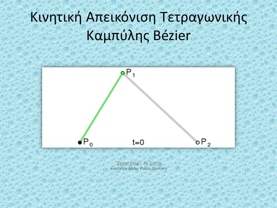 Κινητική Απεικόνιση Τετραγωνικής Καμπύλης Bézier