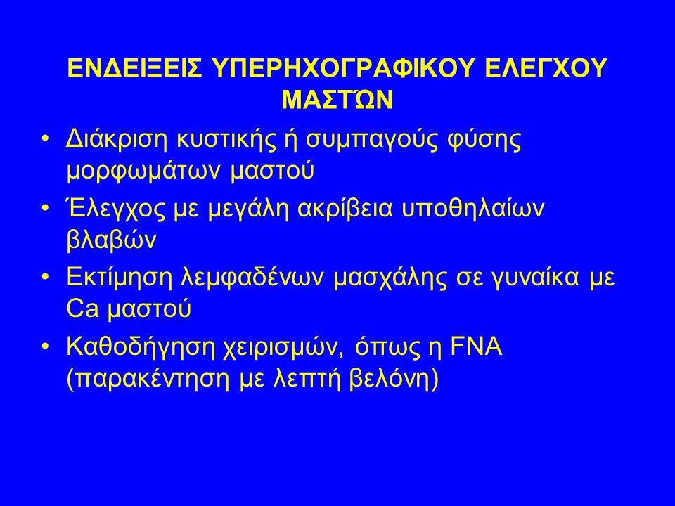 ΕΝΔΕΙΞΕΙΣ ΥΠΕΡΗΧΟΓΡΑΦΙΚΟΥ ΕΛΕΓΧΟΥ ΜΑΣΤΏΝ