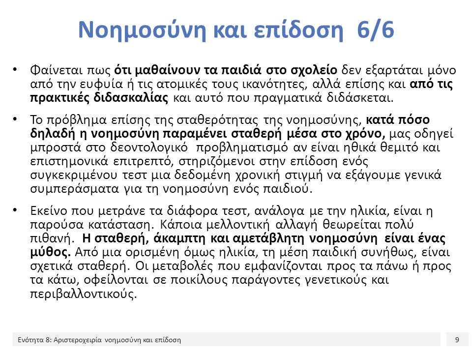 Νοημοσύνη και επίδοση 6/6