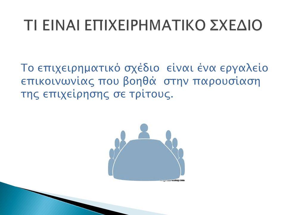 TI EINAI ΕΠΙΧΕΙΡΗΜΑΤΙΚΟ ΣΧΕΔΙΟ