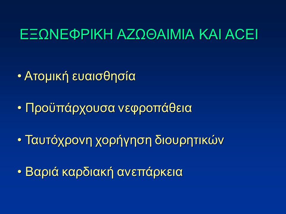 ΕΞΩΝΕΦΡΙΚΗ ΑΖΩΘΑΙΜΙΑ KAI ACEI