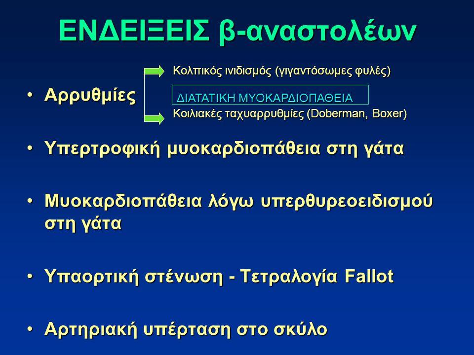 ΕΝΔΕΙΞΕΙΣ β-αναστολέων