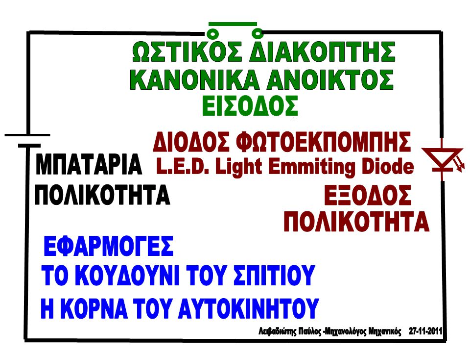L.E.D. Light Emmiting Diode