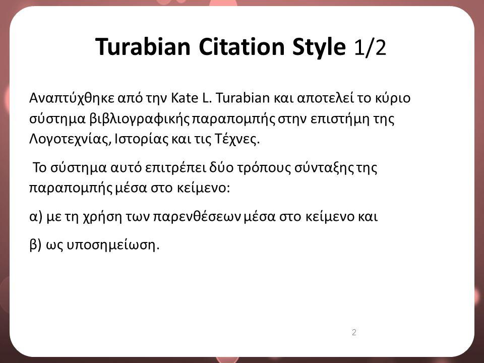 Turabian Citation Style 2/2