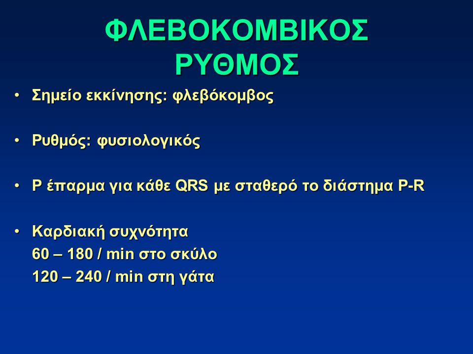 ΦΛΕΒΟΚΟΜΒΙΚΟΣ ΡΥΘΜΟΣ Σημείο εκκίνησης: φλεβόκομβος