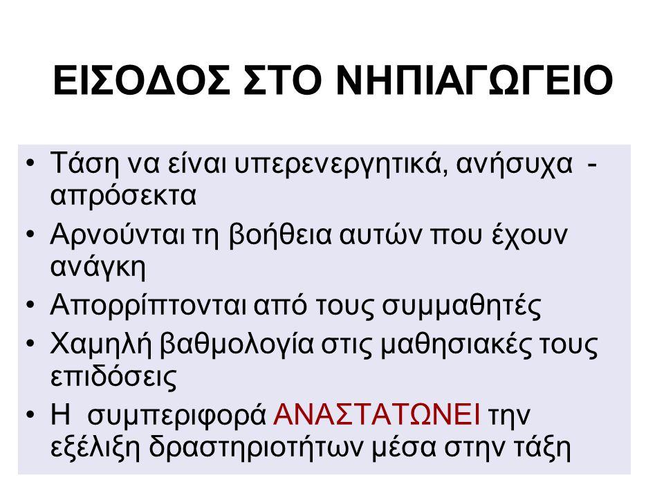 ΕΙΣΟΔΟΣ ΣΤΟ ΝΗΠΙΑΓΩΓΕΙΟ