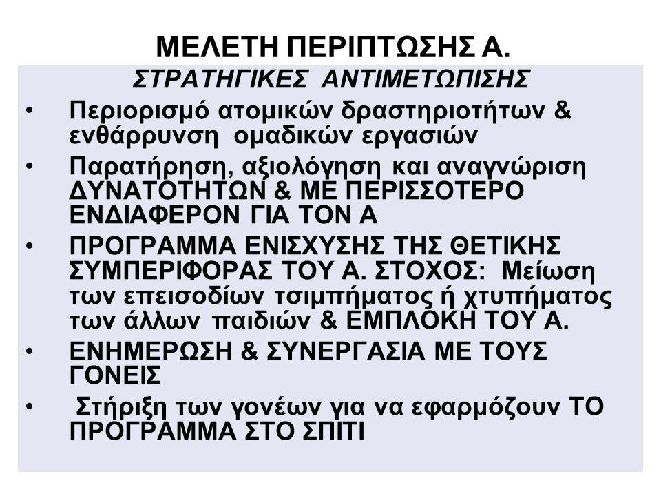 ΣΤΡΑΤΗΓΙΚΕΣ ΑΝΤΙΜΕΤΩΠΙΣΗΣ