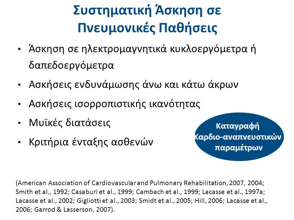 Χαρακτηριστικά αερόβιας άσκησης στη Χρόνια Αποφρακτική Πνευμονοπάθεια