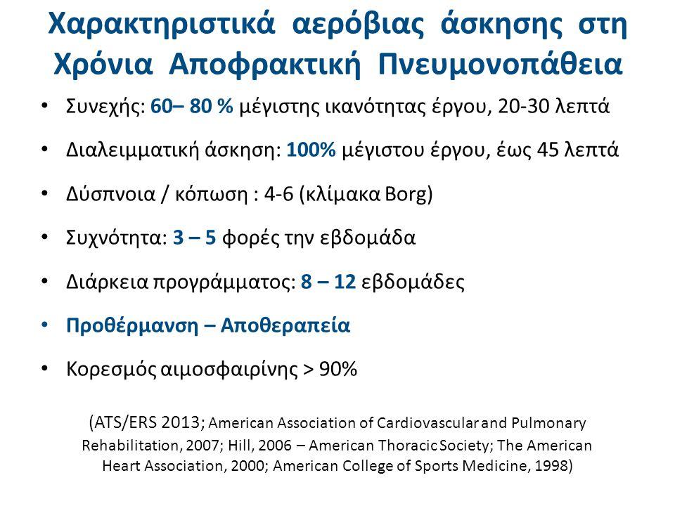 Οφέλη αερόβιας άσκησης στη Χρόνια Αποφρακτική Πνευμονοπάθεια