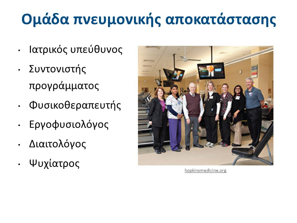 Προγράμματα Πνευμονικής Αποκατάστασης