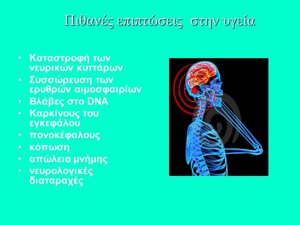 Πιθανές επιπτώσεις στην υγεία