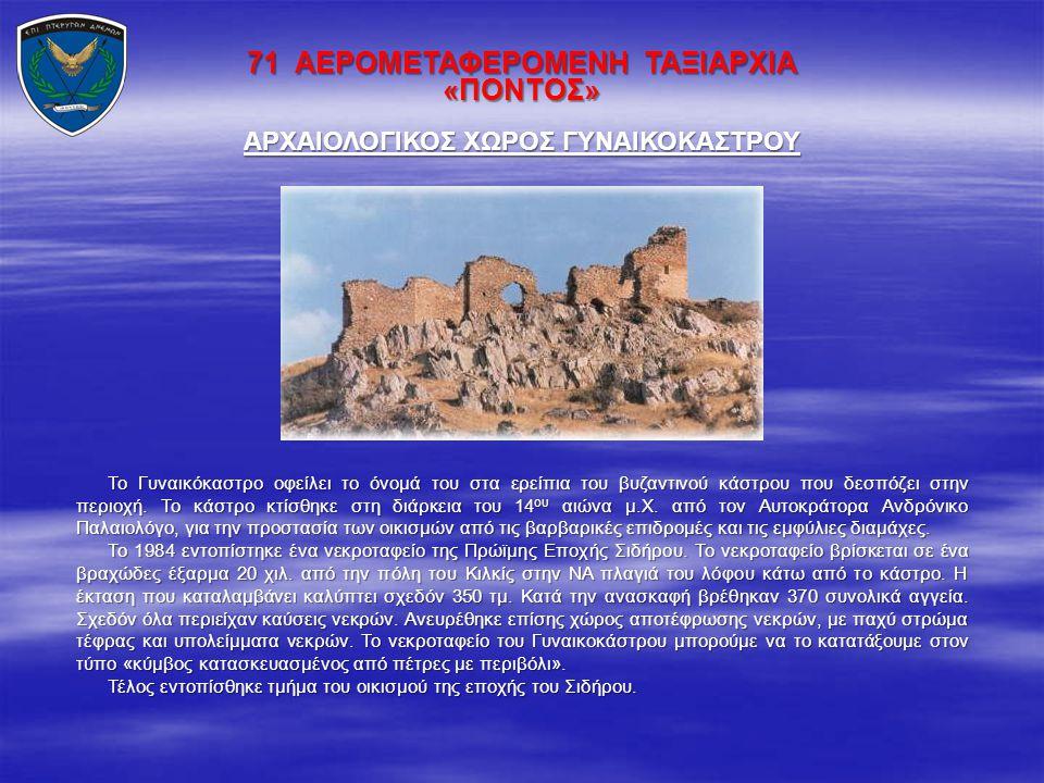 ΑΡΧΑΙΟΛΟΓΙΚΟΣ ΧΩΡΟΣ ΓΥΝΑΙΚΟΚΑΣΤΡΟΥ