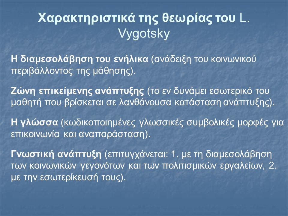 Χαρακτηριστικά της θεωρίας του L. Vygotsky
