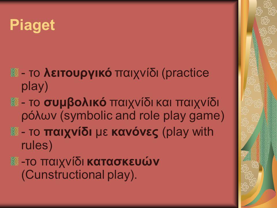 Piaget - το λειτουργικό παιχνίδι (practice play)