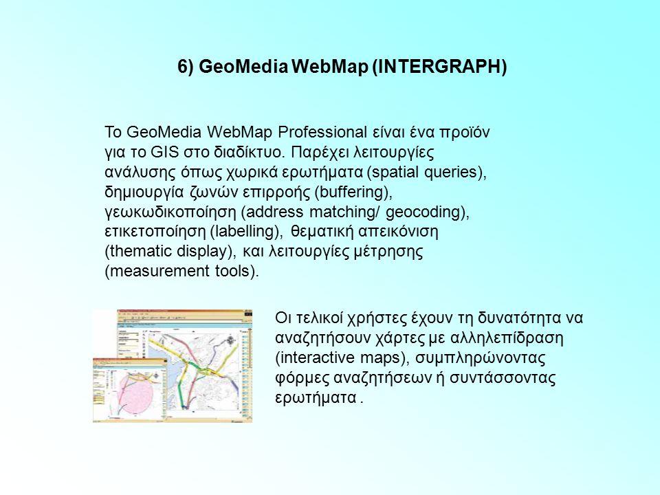 6) GeoMedia WebMap (INTERGRAPH)