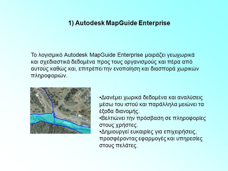 1) Autodesk MapGuide Enterprise