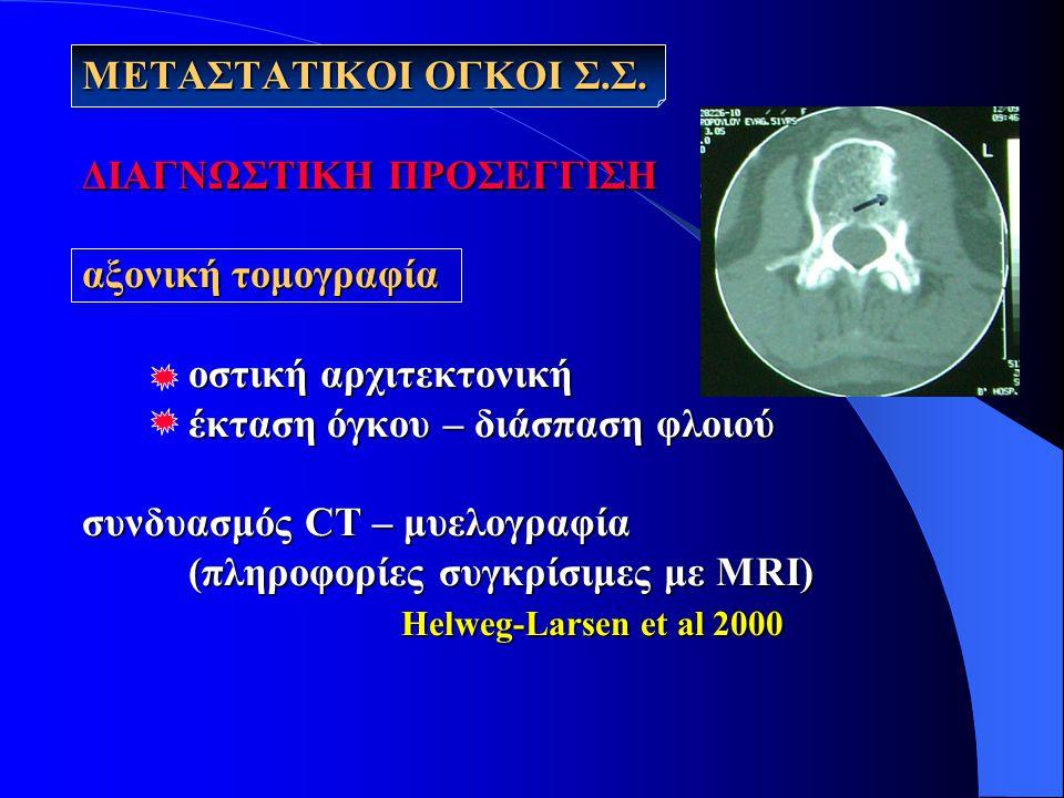 ΜΕΤΑΣΤΑΤΙΚΟΙ ΟΓΚΟΙ Σ. Σ. ΔΙΑΓΝΩΣΤΙΚΗ ΠΡΟΣΕΓΓΙΣΗ αξονική τομογραφία