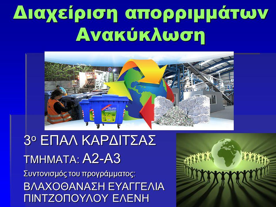 Διαχείριση απορριμμάτων Ανακύκλωση
