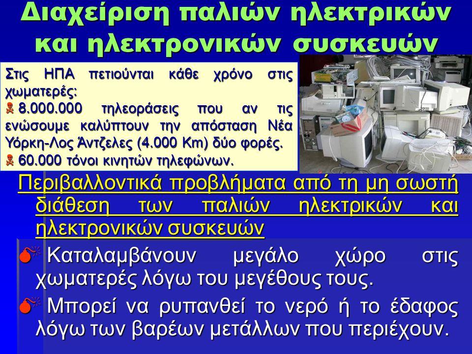 Διαχείριση παλιών ηλεκτρικών και ηλεκτρονικών συσκευών