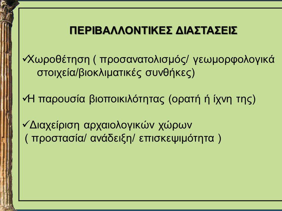 ΠΕΡΙΒΑΛΛΟΝΤΙΚΕΣ ΔΙΑΣΤΑΣΕΙΣ