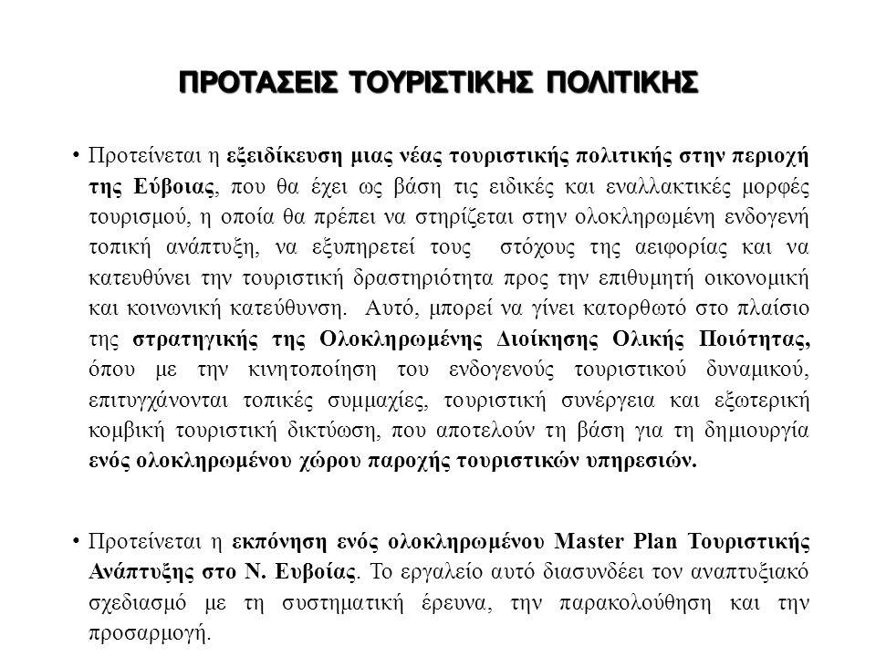 ΠΡΟΤΑΣΕΙΣ ΤΟΥΡΙΣΤΙΚΗΣ ΠΟΛΙΤΙΚΗΣ