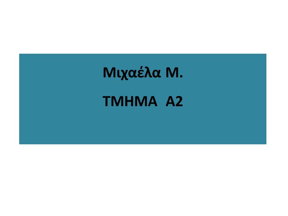 Μιχαέλα Μ. ΤΜΗΜΑ Α2