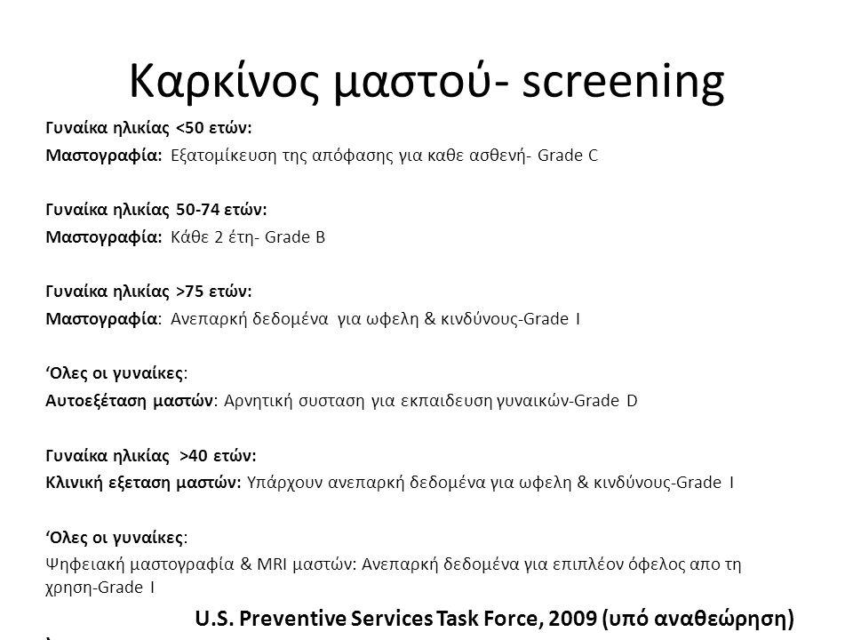 Καρκίνος μαστού- screening