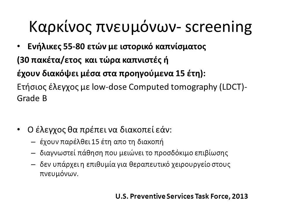 Καρκίνος πνευμόνων- screening