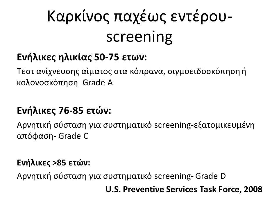 Καρκίνος παχέως εντέρου- screening