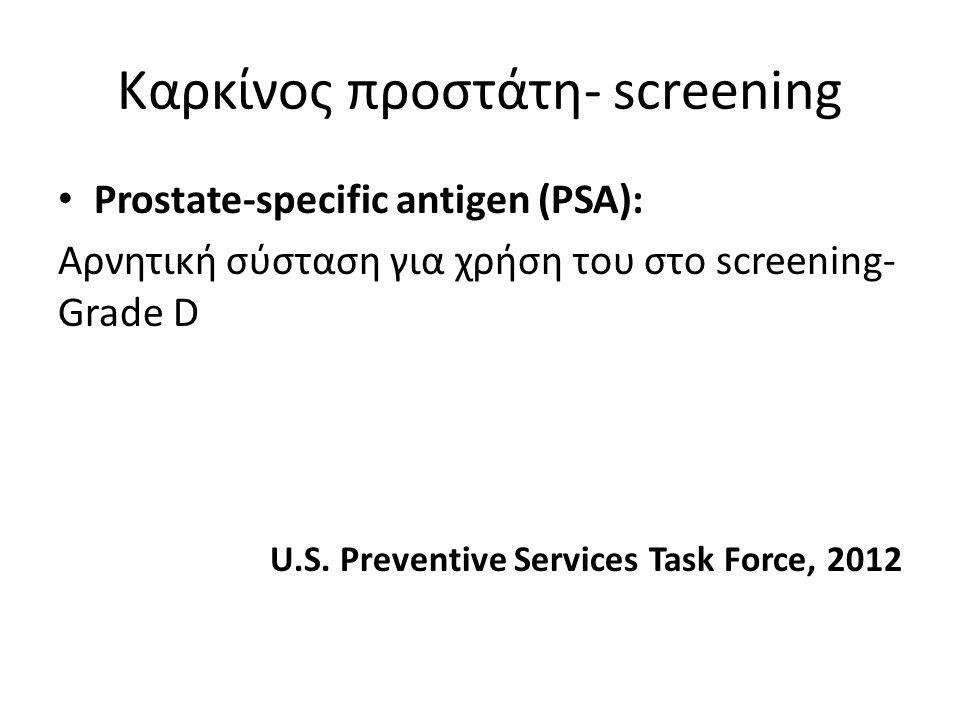 Καρκίνος προστάτη- screening